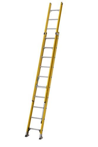 Youngman 52781018 S200 Fibreglass Trade 2 Section Extension Ladder 3.03m