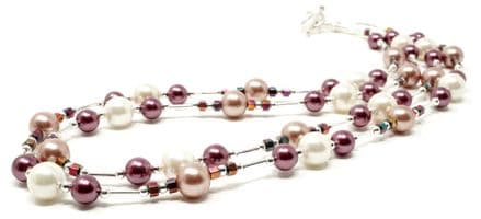 Orchid 2 - 2 strand necklace 18""