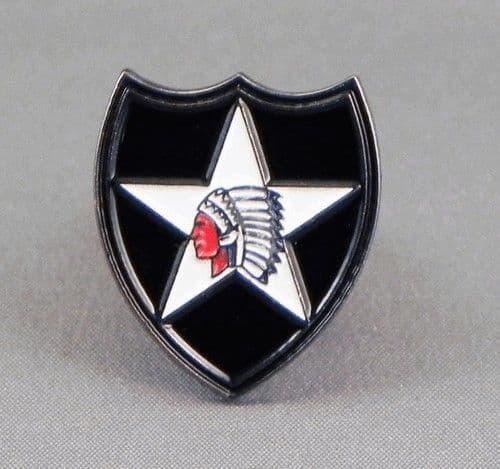 2nd Infantry Division Pin Badge