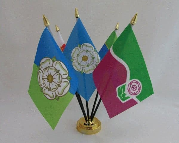 5 Yorkshire Counties Friendship Table Flag