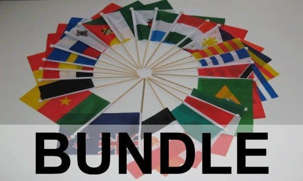 Commonwealth Country Hand Flag Bundle - 54 Flags