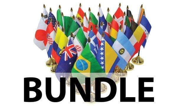 Commonwealth Country Table Flag Bundle - 54 Flags