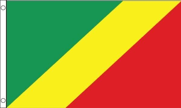 Congo Brazzaville (Republic of the Congo) Flag