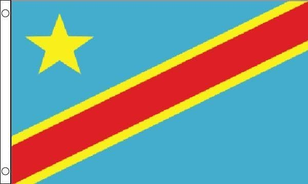 Democratic Republic of Congo (Kinshasa/Zaire) Flag