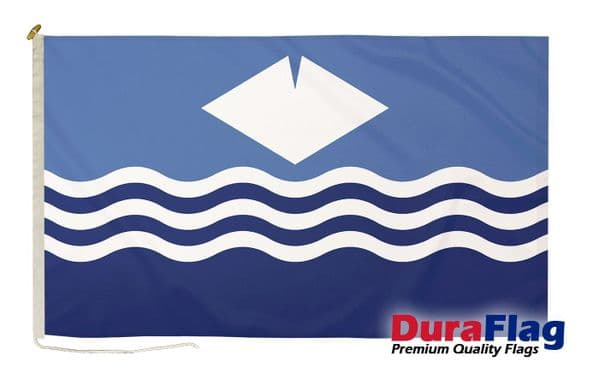 """Isle of Wight New (Waves) Premium Quality DuraFlag"""" Rope & Toggle"""