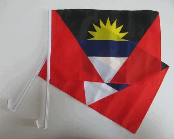 Antigua and Barbuda Car Flag - 2 Pack