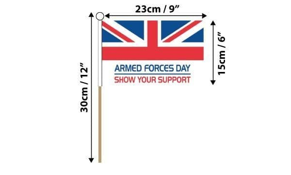 Armed Forces Day Hand Flag