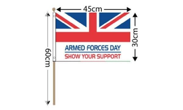 Armed Forces Day Large Hand Flag (18