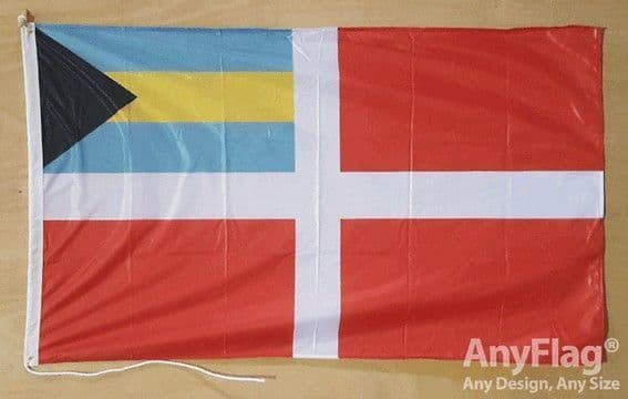 Bahamas Civil Ensign 5ft x 3ft Flag Rope & Toggle