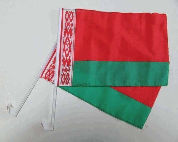Belarus Car Flag - 2 Pack