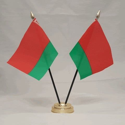Belarus Double Table Flag