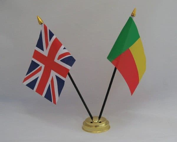 Benin with UK Friendship Table Flag