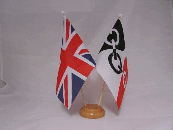 Black Country Friendship Wooden Table Flag
