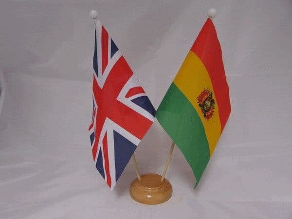 Bolivia Friendship Wooden Table Flag