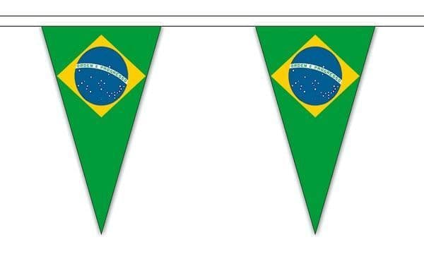 Brazil Triangle Bunting (5m) - 12 Flags