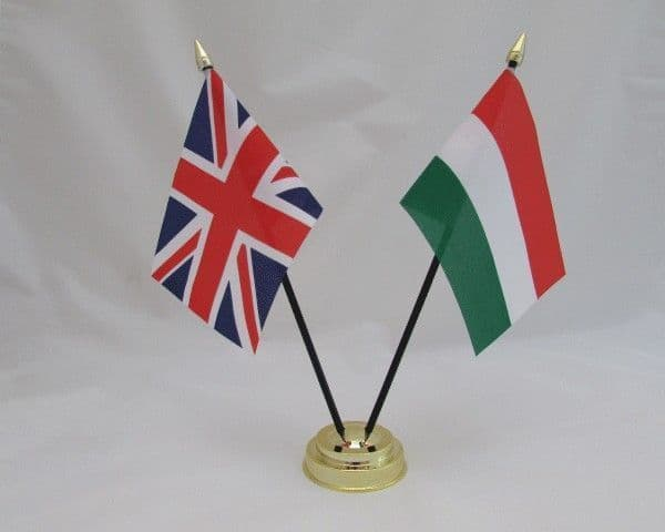 Bulgaria with UK Friendship Table Flag
