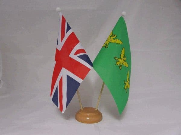 Caernarfonshire Friendship Wooden Table Flag