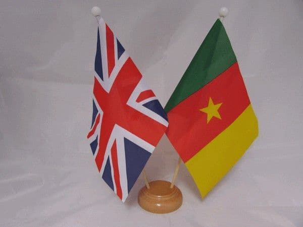 Cameroon Friendship Wooden Table Flag
