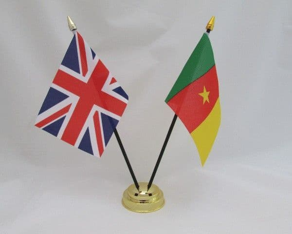 Cameroon with UK Friendship Table Flag