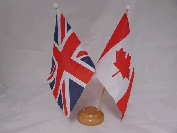 Canada Friendship Wooden Table Flag