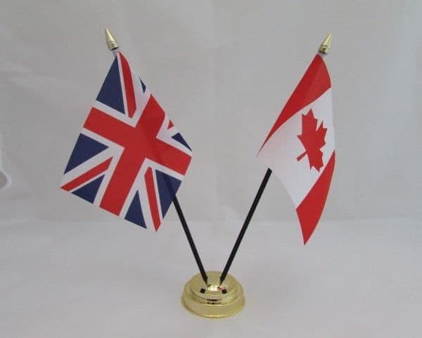 Canada with UK Friendship Table Flag