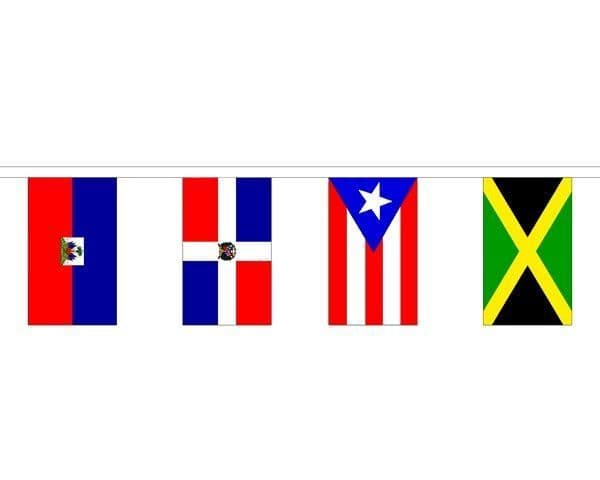 Caribbean Country Mixed Bunting (9m) - 30 Flags