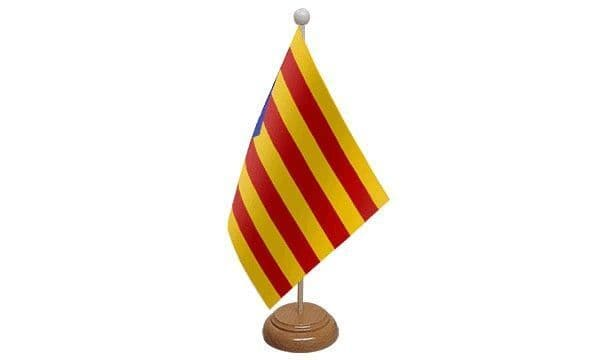 Catalonia Independence Wooden Table Flag