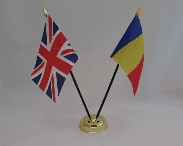 Chad with UK Friendship Table Flag
