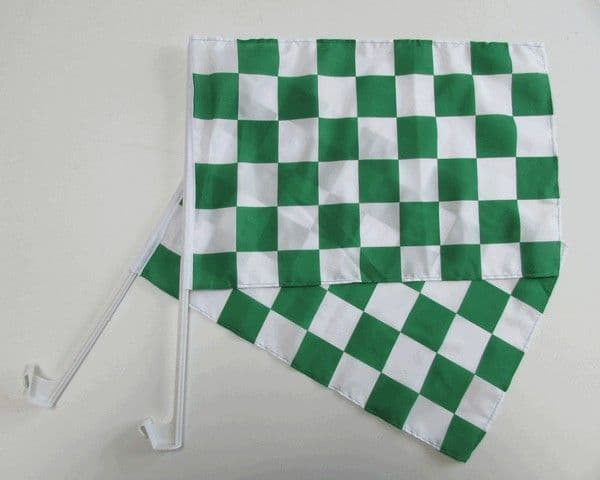 Checkered Car Flag Green and White - 2 Pack
