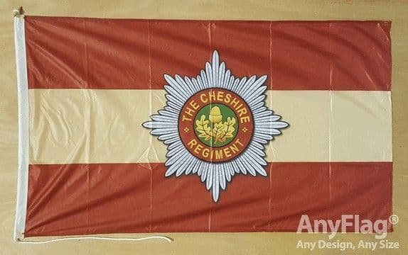 Cheshire Regiment 5ft x 3ft Flag Rope & Toggle