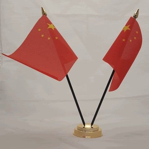 China Double Table Flag