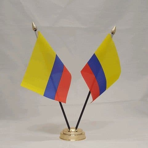 Colombia Double Table Flag