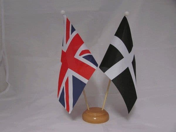 Cornwall Friendship Wooden Table Flag