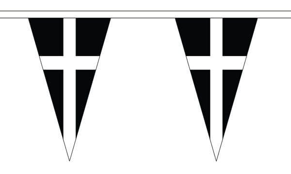 Cornwall Triangle Bunting (5m) - 12 Flags