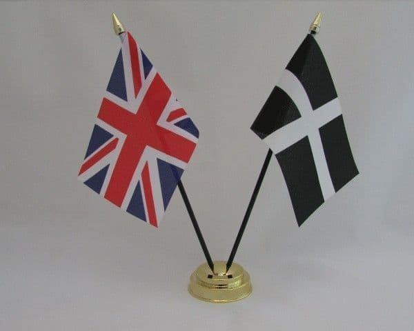 Cornwall with UK Friendship Table Flag