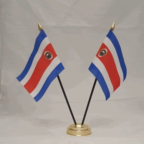 Costa Rica Double Table Flag