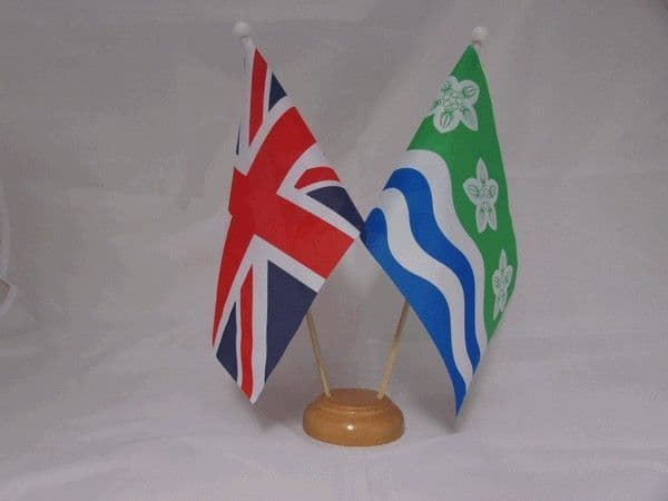 Cumberland Friendship Wooden Table Flag