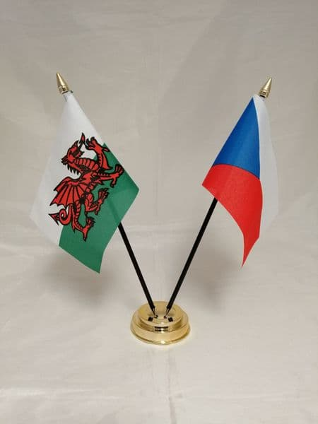 Czech Republic with Wales Friendship Table Flag