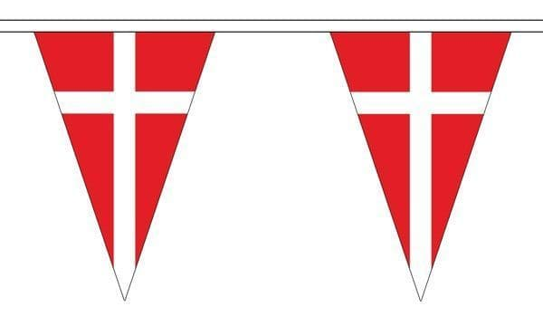 Denmark Triangle Bunting (5m) - 12 Flags