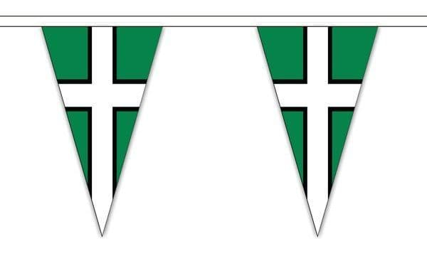 Devon Triangle Bunting (5m) - 12 Flags