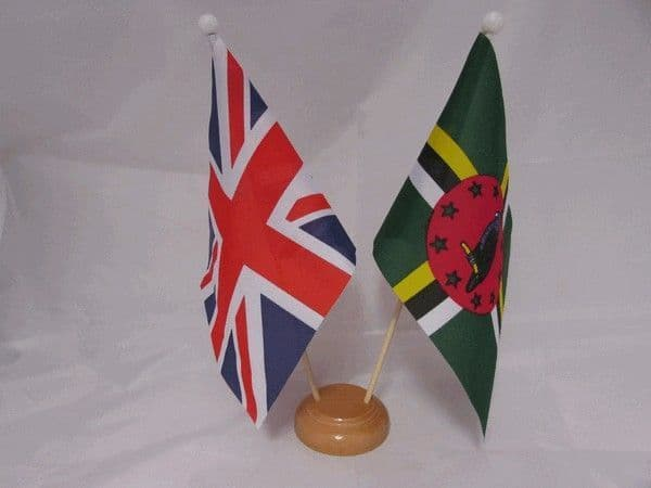 Dominica Friendship Wooden Table Flag