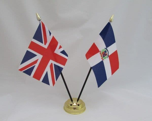 Dominican Republic with UK Friendship Table Flag