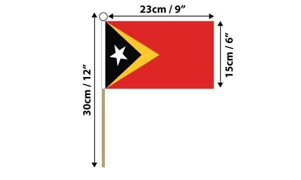 East Timor Hand Flag