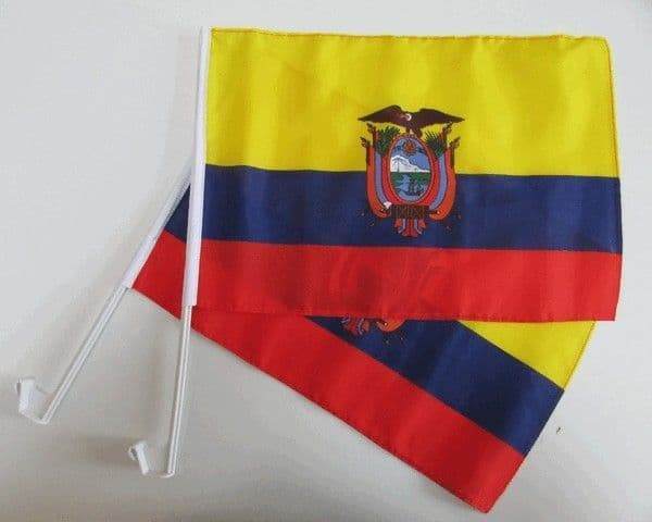 Ecuador Car Flag - 2 Pack