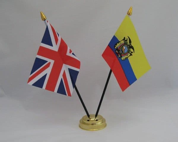 Ecuador with UK Friendship Table Flag