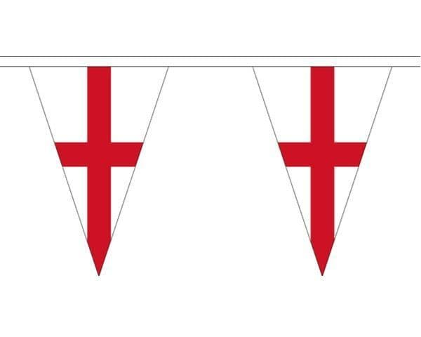 England Triangle Bunting (5m) - 12 Flags