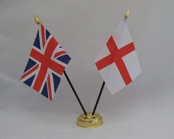 England with UK Friendship Table Flag