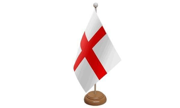 England Wooden Table Flag