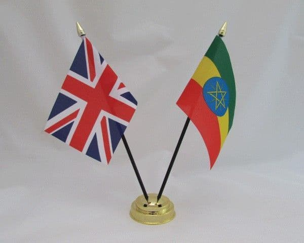 Ethiopia with UK Friendship Table Flag
