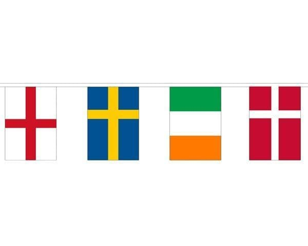 European Country Mixed Bunting (5m) - 16 Flags